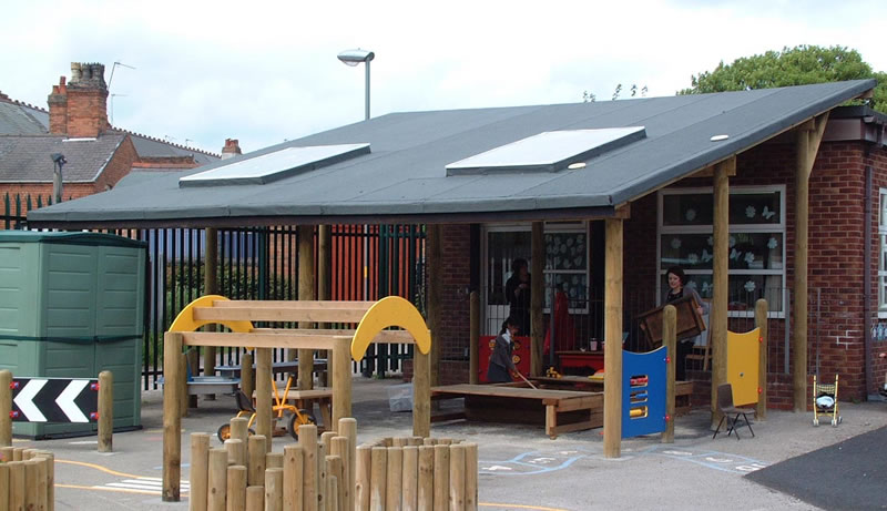 Timber / Wooden / Perspex Canopies - Click for larger image & Timber and Perspex Canopies - Setter Shelters UK