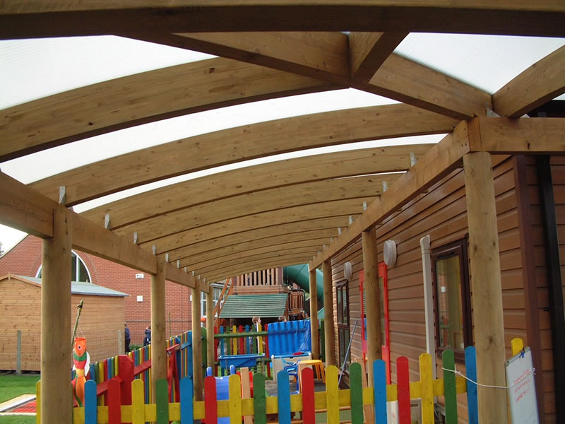 Timber And Perspex Canopies Setter Shelters Uk