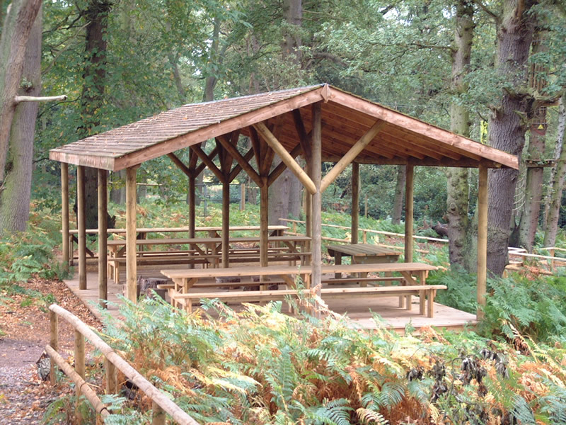 Outdoor School Classrooms And Timber Wooden Shelters