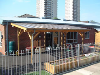 Timber and Perspex Canopies - Setter Shelters UK